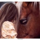 In Their Own World Girl and Horse Horses By Lesley Harrison Art Print