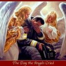 The Day The Angels Cried Firefighter 9-11-2001 by Greg and Tim Hildebrandt  Art Print