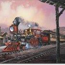 Rollin Thru Ted Blaylock Railroad Trains  Metal Sign