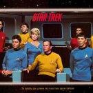 Star Trek  Original Cast Boldly Go 1995 Poster 24x36