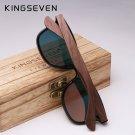 KINGSEVEN 2019 Mens Sunglasses Polarized Walnut Wood Mirror Lens Sun Glasses UAV