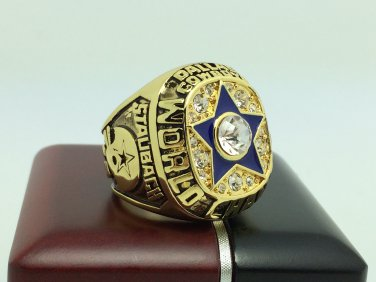 1971 Dallas Cowboys super bowl Championship Ring 11 Size With wooden box