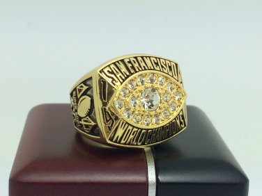 1981 San Francisco 49ers super bowl Championship Ring 11 Size With wooden box