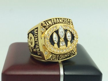1988 San Francisco 49ers super bowl Championship Ring 11 Size With wooden box
