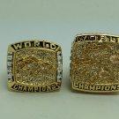One Set 2Pcs 1997 1998 Denver Broncos super bowl Championship Ring 11 Size