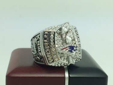 Promotion sale 2003 New England Patriots super bowl Championship Ring 11 Size With wooden box