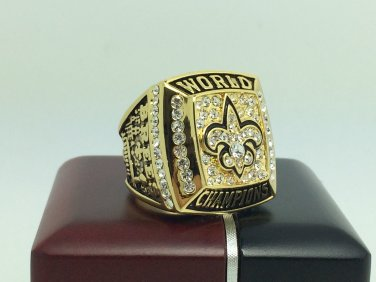 2009 New Orleans Saints super bowl Championship Ring 11 Size With wooden box