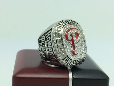 2008 Philadelphia Phillies Sox world series Championship Ring 11 Size With wooden box