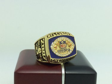 2007 Hamburg Sea Devils Europa NFL Championship Ring 11 Size With wooden box