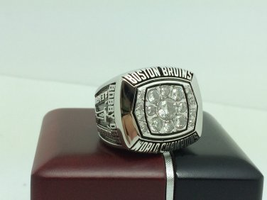 1972 Boston Bruins Hockey Stanely Cup Championship ring 9-13 Size With wooden box