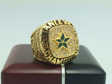 1999 Dallas Stars Hockey Stanely Cup Championship ring 9-13 Size With wooden box