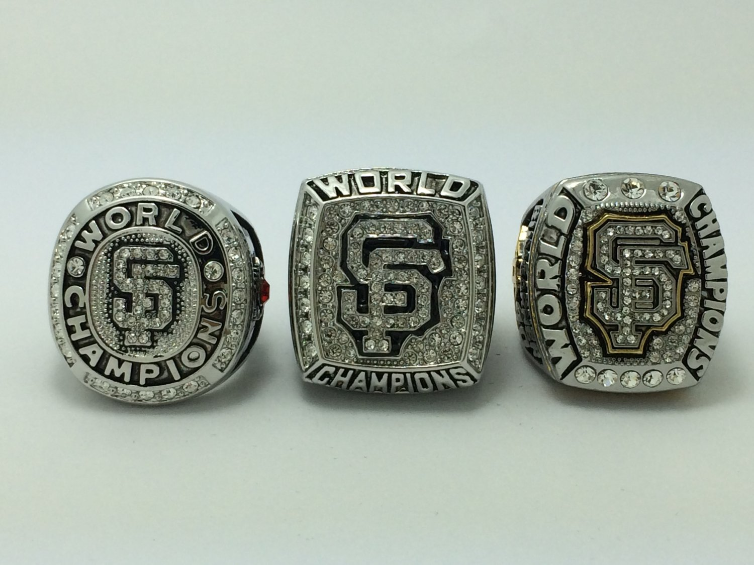 One set 3PCS 2010 2012 2014 San Francisco Giants world series Championship Ring 11S