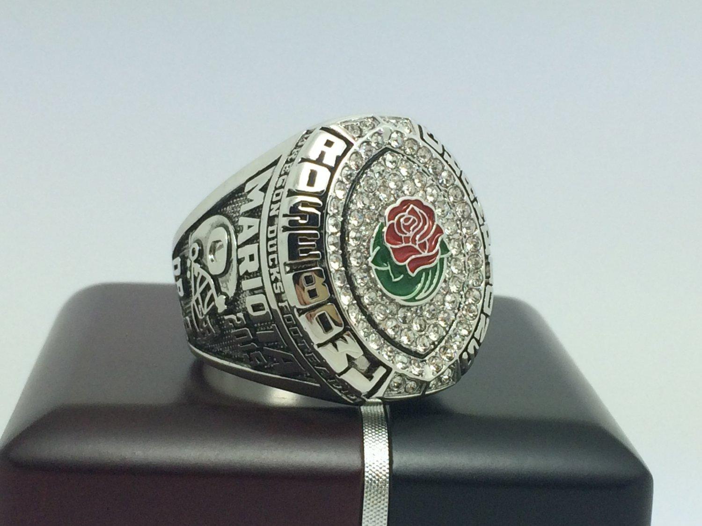 2015 Oregon Ducks Rose Bowl National championship ring 8-14S with box