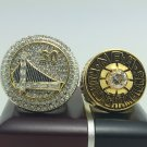 One set 2 PCS 1975 2015 Golden State Warriors Championship Rings 8-14S wooden box