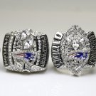 Promotion sale One Set 4PCS 2001 2003 2004 2014 New England Patriots super bowl rings 11S solid back