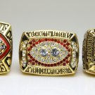 One Set 3pcs 1982 1987 1991  Washington Redskins super bowl Rings 11s high quality in stock