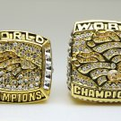 One Set 2Pcs 1997 1998 Denver Broncos super bowl  Rings 11S solid back in stock