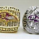 One Set 2 PCS 2000 2012 Baltimore Ravens super bowl Championship Ring 11 Size