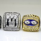 One Set 4 PCS 1986 1990 2007 2011 New York Giants super bowl Rings 11S