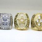 5PCS One Set 1971 1977 1992 1993 1995 Dallas Cowboys super bowl  Rings 11s all solid back