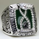 2015 Michigan State Spartans Cotton Bowl Championship Ring 8-14S solid back heavy one