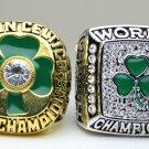 One set 2 PCS 1984 2008 Boston Celtics Basketball NBA Championship Ring 10 Size
