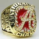 2009 Alabama Crimson NCAA Football Championship ring replica size 11 US Alloy solid back heavy one