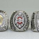 One Set 3PCS 2014 2015 Ohio State Buckeyes National Championship Ring 8-14 Size ingraved inside