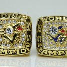 One Set 2 PCS 1992 1993 Toronto Blue Jays world series Championship Ring 11 Size