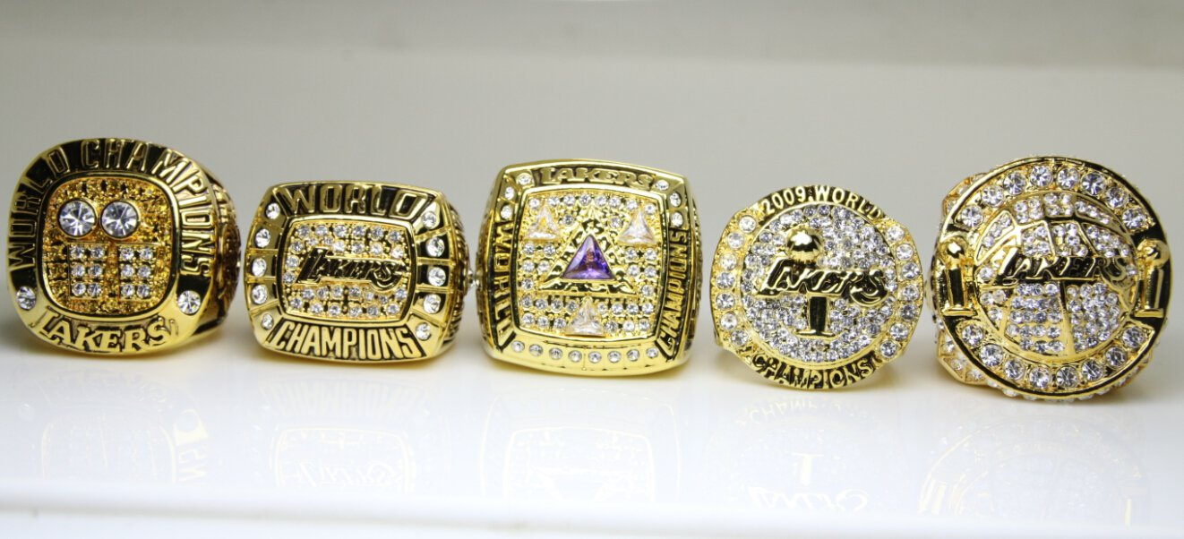 One Set 5 PCS 2000 2001 2002 2009 2010 Los Angeles Lakers ...