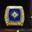 1969 New York Mets world series Championship Ring 8-14 Size With wooden box