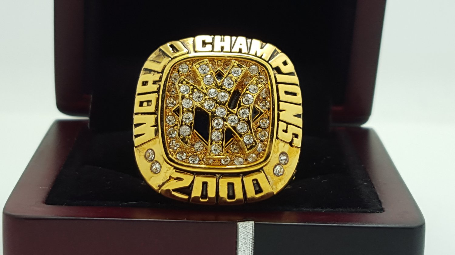 2000 New York Yankees world series Championship Ring Name Jeter 11 Size With wooden box