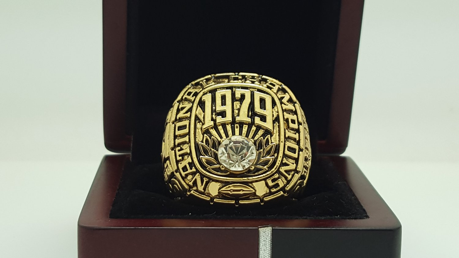 1979 Alabama Crimson SEC Football National Championship ring replica size 11 US solid back