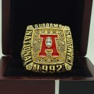 1992 Alabama Crimson SEC Football National Championship ring replica size 11 US solid back