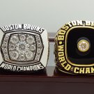 2 PCS 1970 1972 Boston Bruins Hockey Stanely Cup Championship ring 8-14 Size wooden case