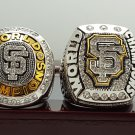 2PCS 2010 2014 San Francisco Giants world series Championship Ring 8-14S wooden case