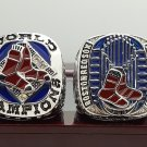 Boston Red Sox set 2 PCS 2007 2013 world series Championship Ring 8-14S wooden case