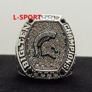 2016 Michigan State Spartans big 10 Championship Ring 8-14S solid back heavy one