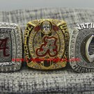 One Set 3 PCS 2015 2016 Alabama Crimson Tide NCAA Championship Ring 8-14S