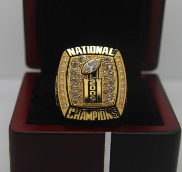 2006 Florida Gators NCAA National championship ring 8-14S with cherry wooden case