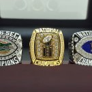 One Set 3 PCS 2006 Florida Gators BCS SEC and National championship ring 8-14 size