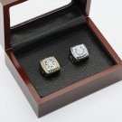 One Set(2pcs) 2006 2009 INDIANAPOLIS COLTS Championship Ring 10-13S with wooden case