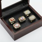 5pcs 1972 1982 1983 1987 1991  Washington Redskins Championship Rins 10-13 Size +BOX