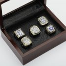 5PCS One Set 1971 1977 1992 1993 1995 Dallas Cowboys Championship Ring 10-13 Size +box