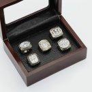 One set 5PCS 1981 1984 1988 1989 1994 San Francisco 49ers championship rings 10-13 size+box