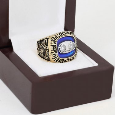 1973 Miami Dolphins world Championship Ring 10-13 Size with wooden case