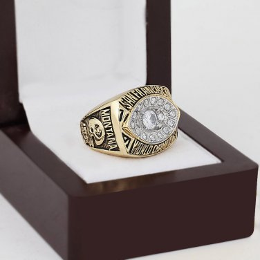 1981 San Francisco 49ers super bowl Championship Ring 10-13 Size With wooden box