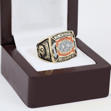 1987 Washington Redskins world Championship Ring 10-13 Size with wooden case