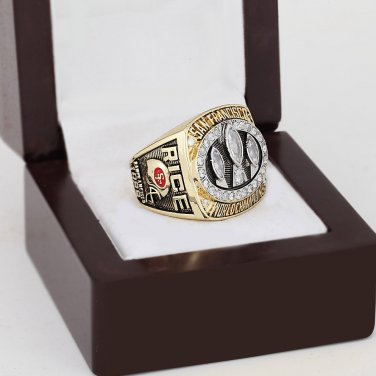 1988 San Francisco 49ers world Championship Ring 10-13 Size with wooden case