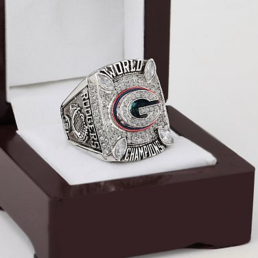 2010 Green bay packers super bowl Championship Ring 10-13 Size With wooden box